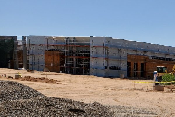 Building Update August 20 North building frontal view